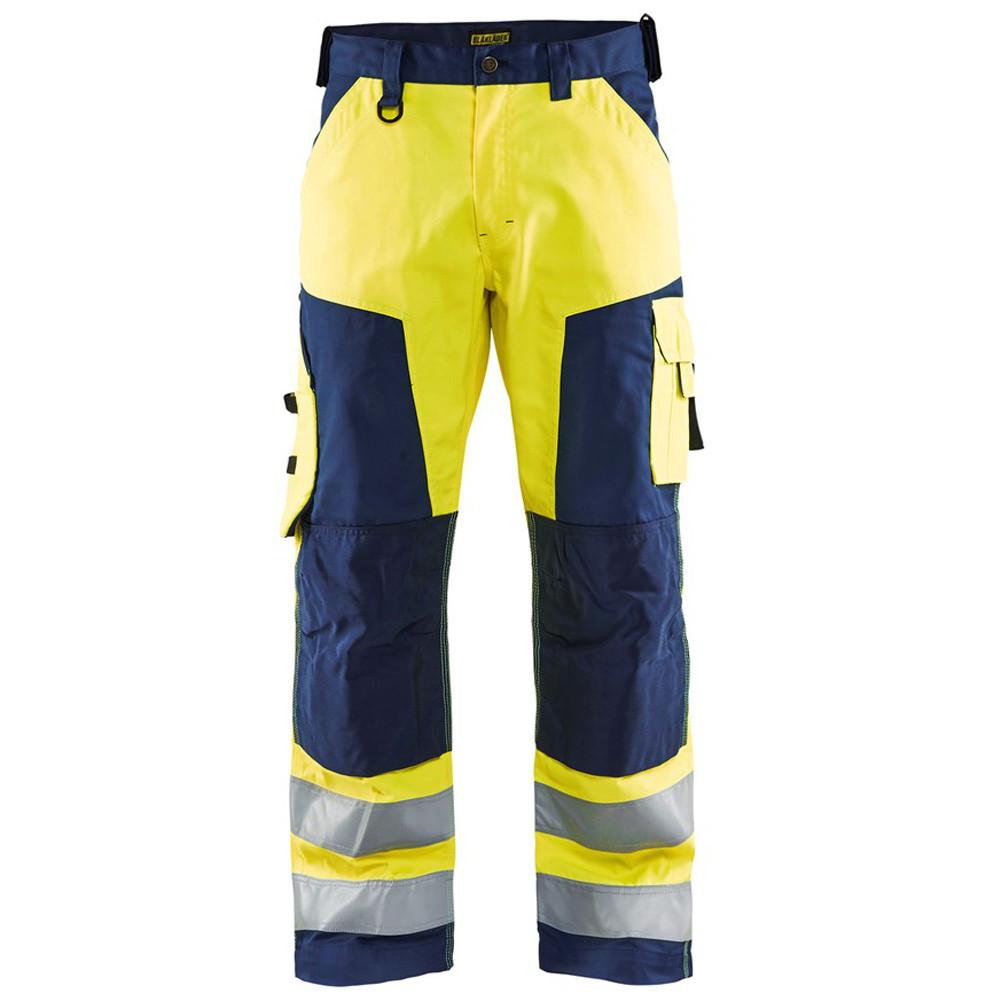 Pantalon de travail haute visibilité Blaklader LIGHT WEIGHT genoux cordura - Jaune / marine