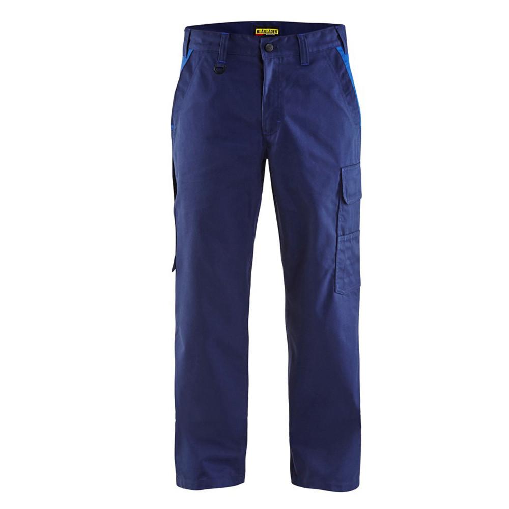 Pantalon de travail Blaklader industrie 100% coton - Marine / Bleu