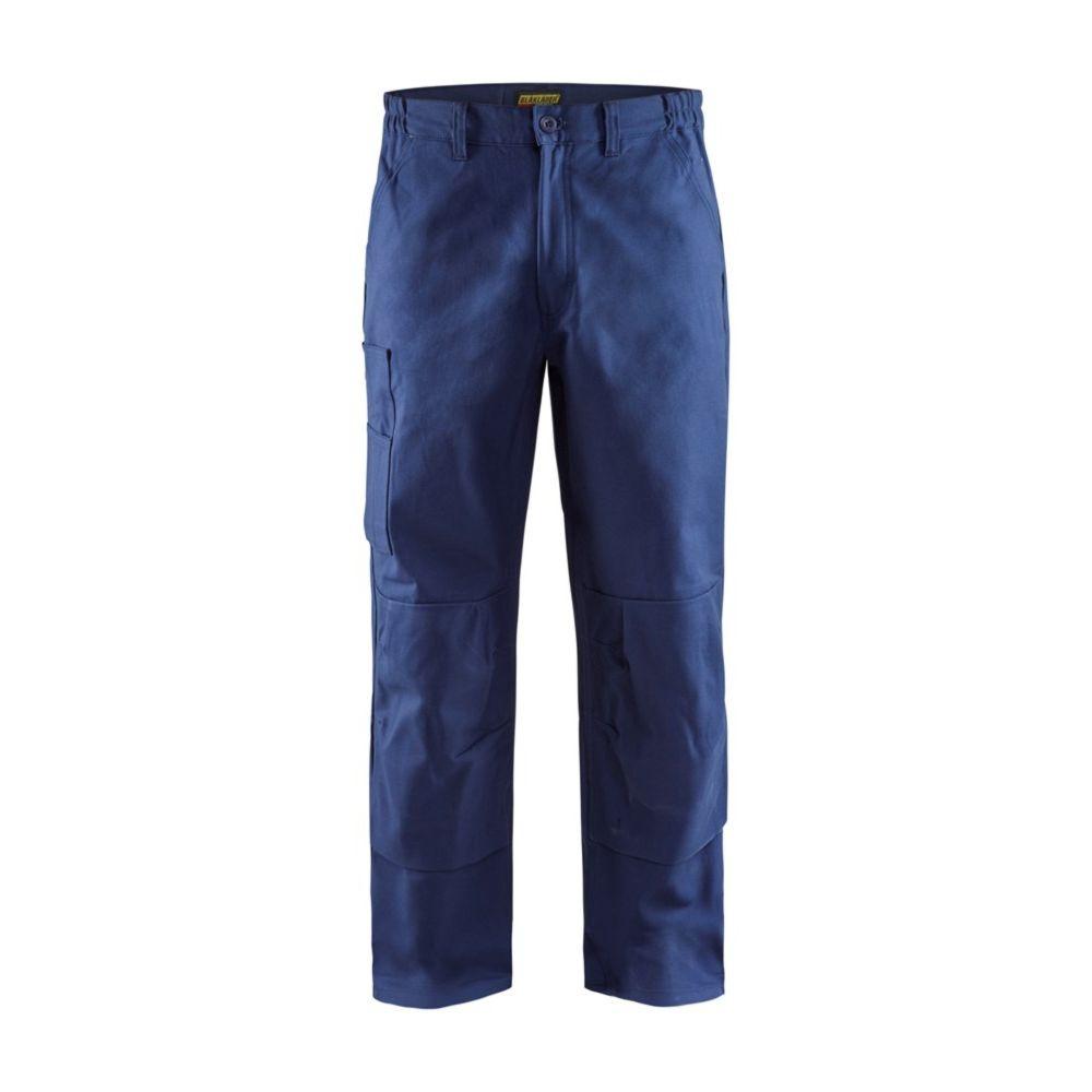 Pantalon de travail à genouillères Blaklader industrie 100% coton - Marine