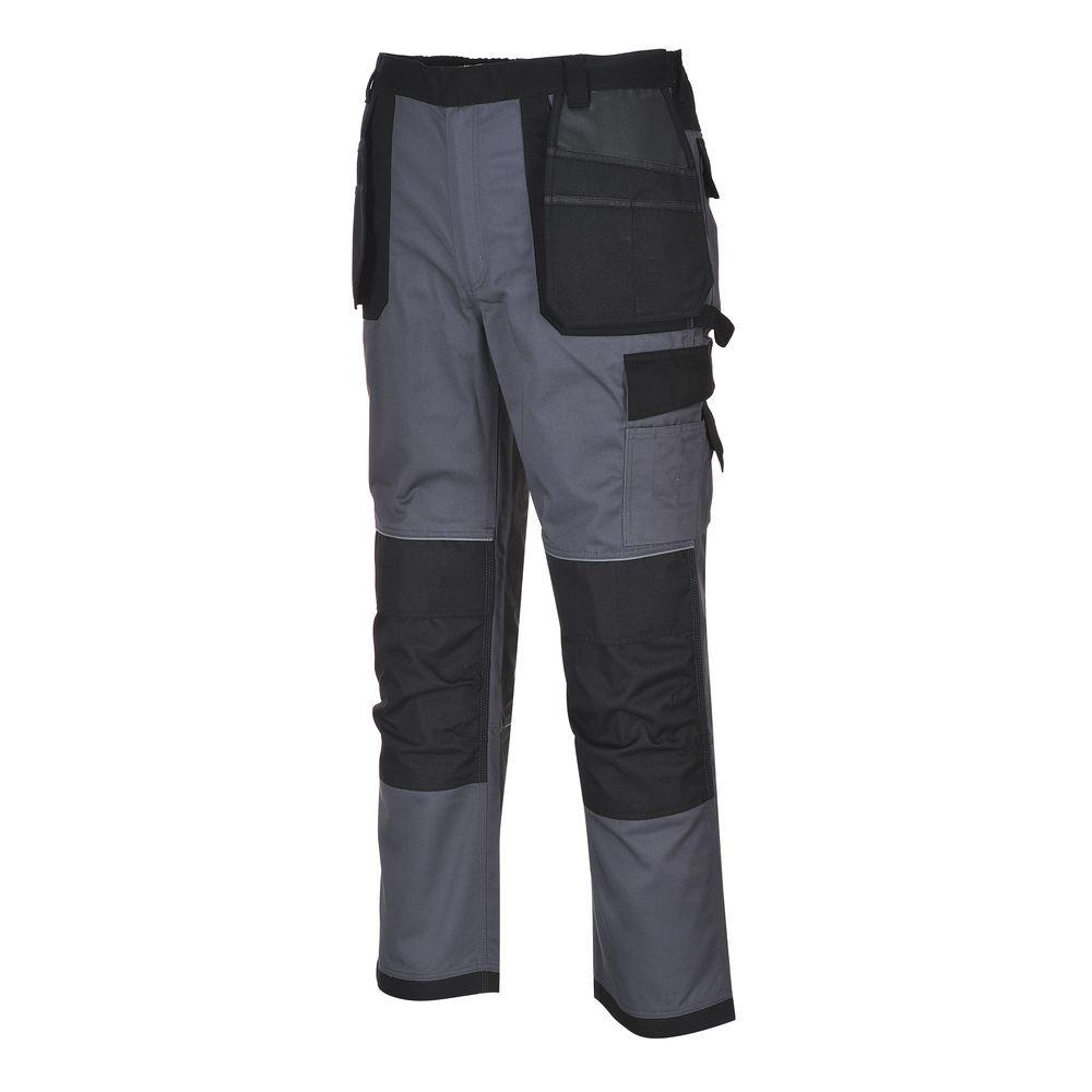 Pantalon de travail Multi Poches Portwest TEXO DRESDEN - Gris Poches Noires