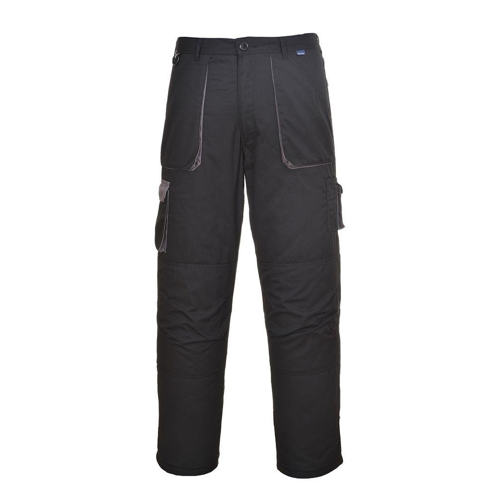 Pantalon de travail Multipoches Matelassé Portwest TEXO CONTRAST - Noir Poches Grises