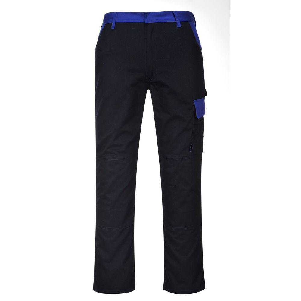 Pantalon de travail Multipoches Portwest Texo Munich - Noir Poches Bleues