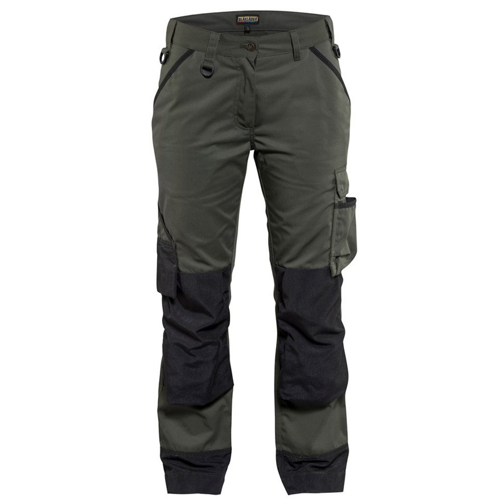 Pantalon de travail femme Blaklader paysagiste - Vert Armée / Noir