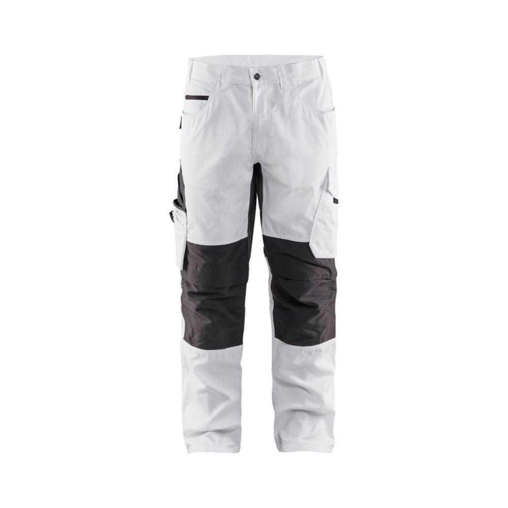 Pantalon de travail peintre Blaklader +STRETCH - Blanc / Gris