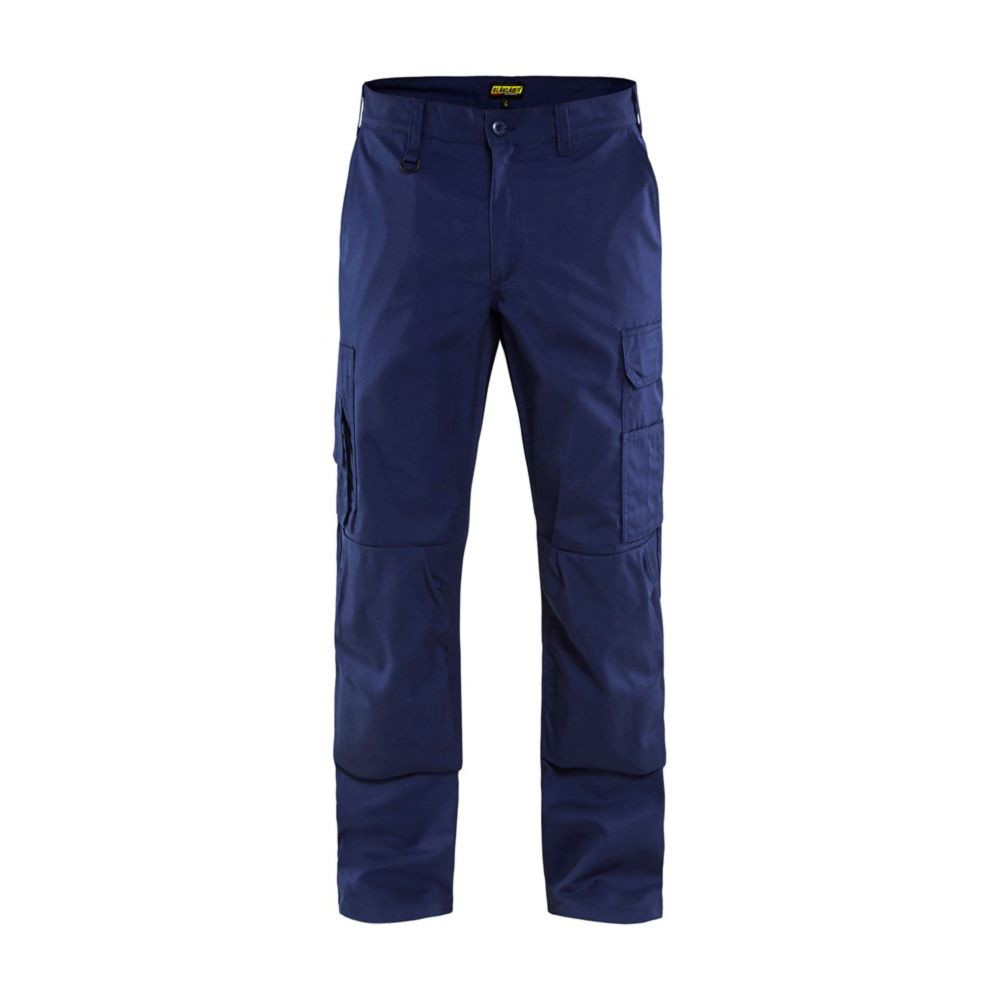 Pantalon de travail polycoton Blaklader cargo poches genouillères - Marine