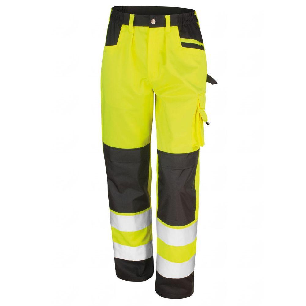 Pantalon multipoche haute visibilité Result Homme Classe 2 - Jaune
