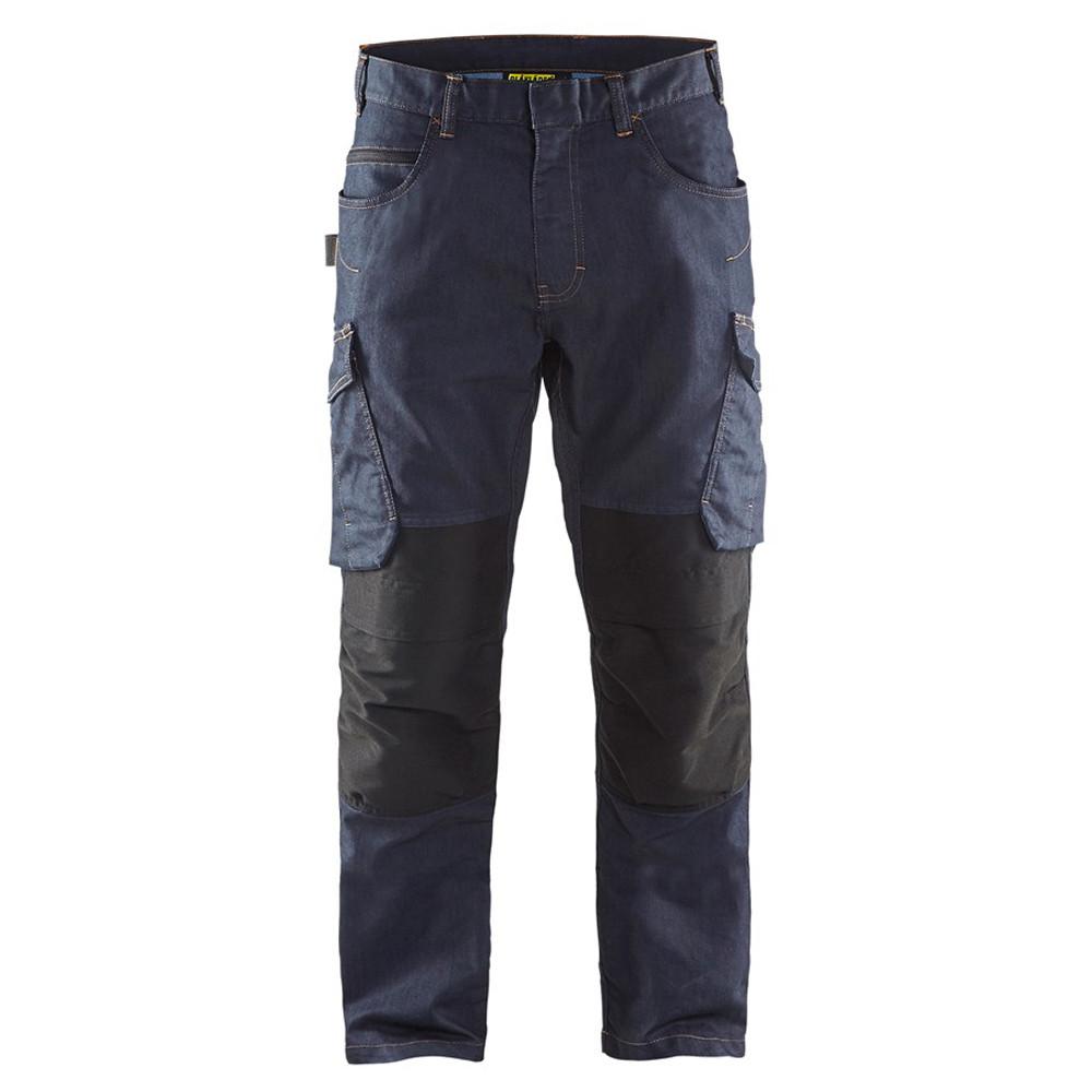 Pantalon de travail Blaklader Services Denim Stretch - Marine / Noir