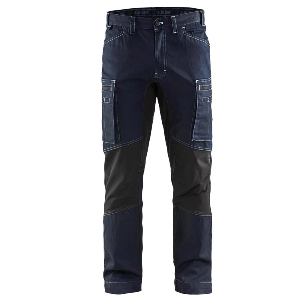 Pantalon de travail Blaklader services stretch cordura denim - Marine / Noir