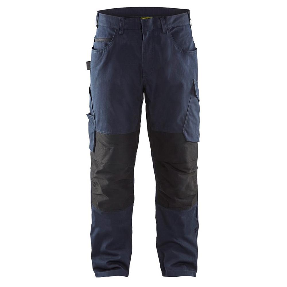 Pantalon de travail Blaklader services ripstop - Marine Foncé / Noir
