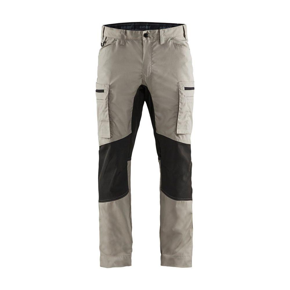 Pantalon de travail services Blaklader polycoton ultra léger - Beige / Noir