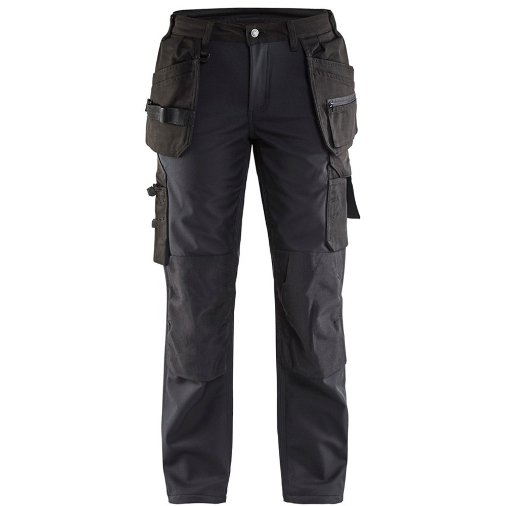 Pantalon de travail softshell femme Blaklader multipoches - Noir