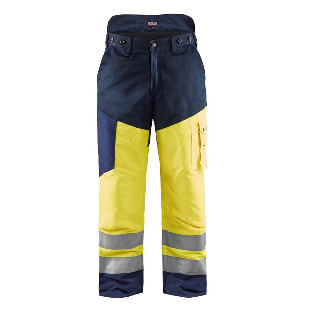 Pantalon de travail Bucheron haute visibilté Blaklader tronçonneuse - Jaune / Marine