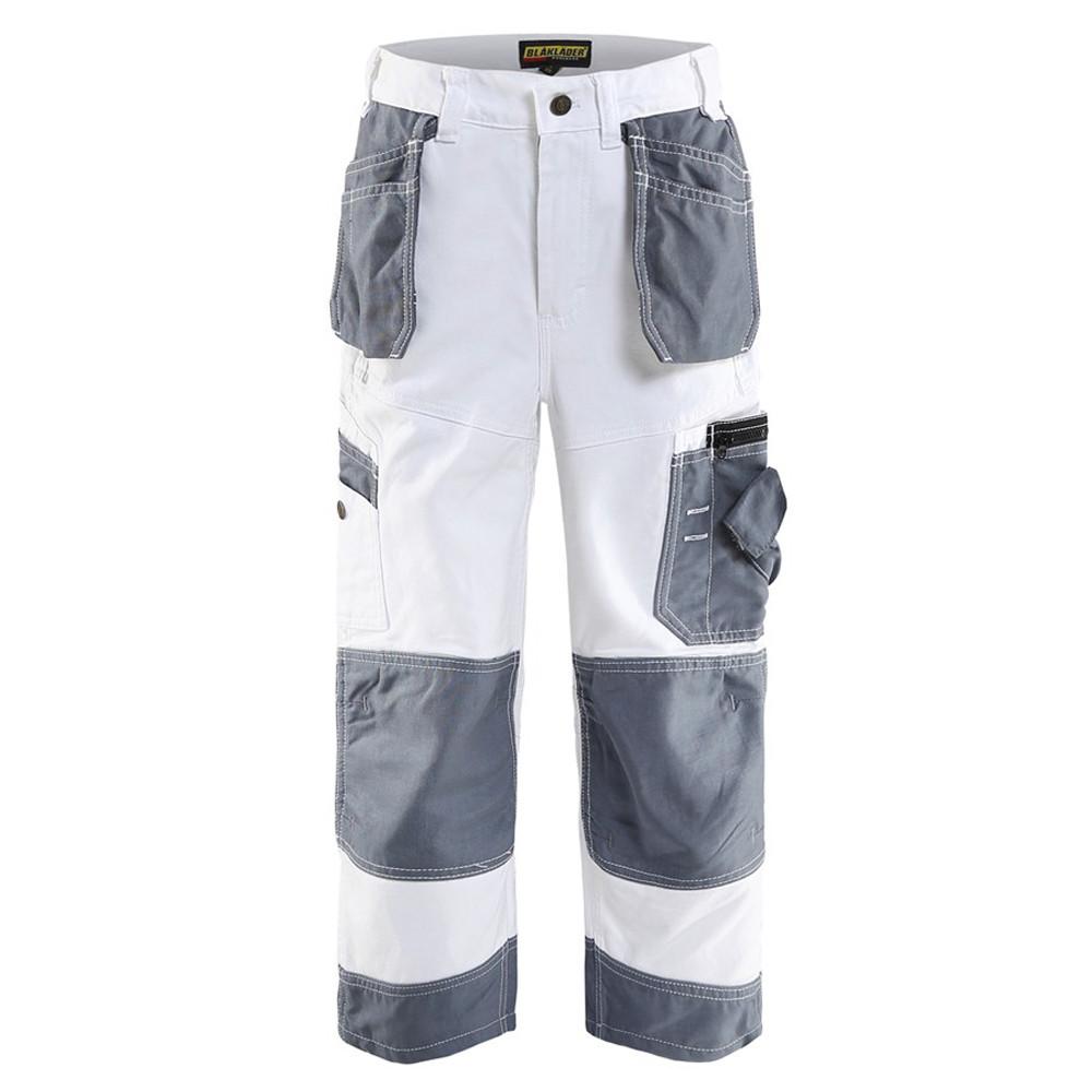 Pantalon peintre enfant Blaklader X1500 renfort Cordura - Blanc / Gris