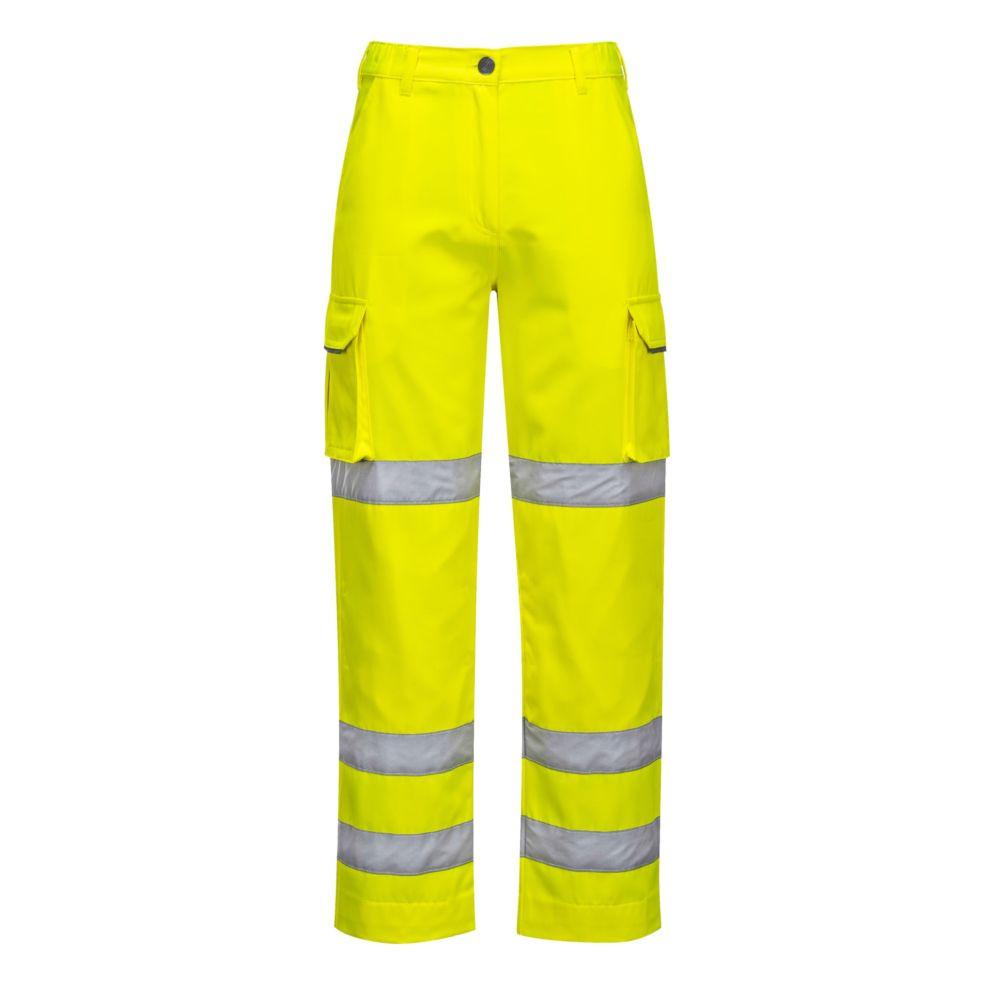 Pantalon femme haute visibilité Portwest HiVis - Jaune