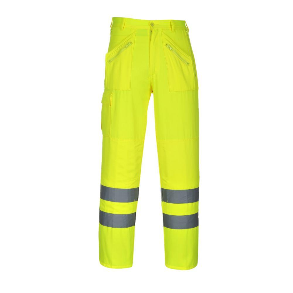 Pantalon haute visibilité Portwest Action poches genouillères - Jaune
