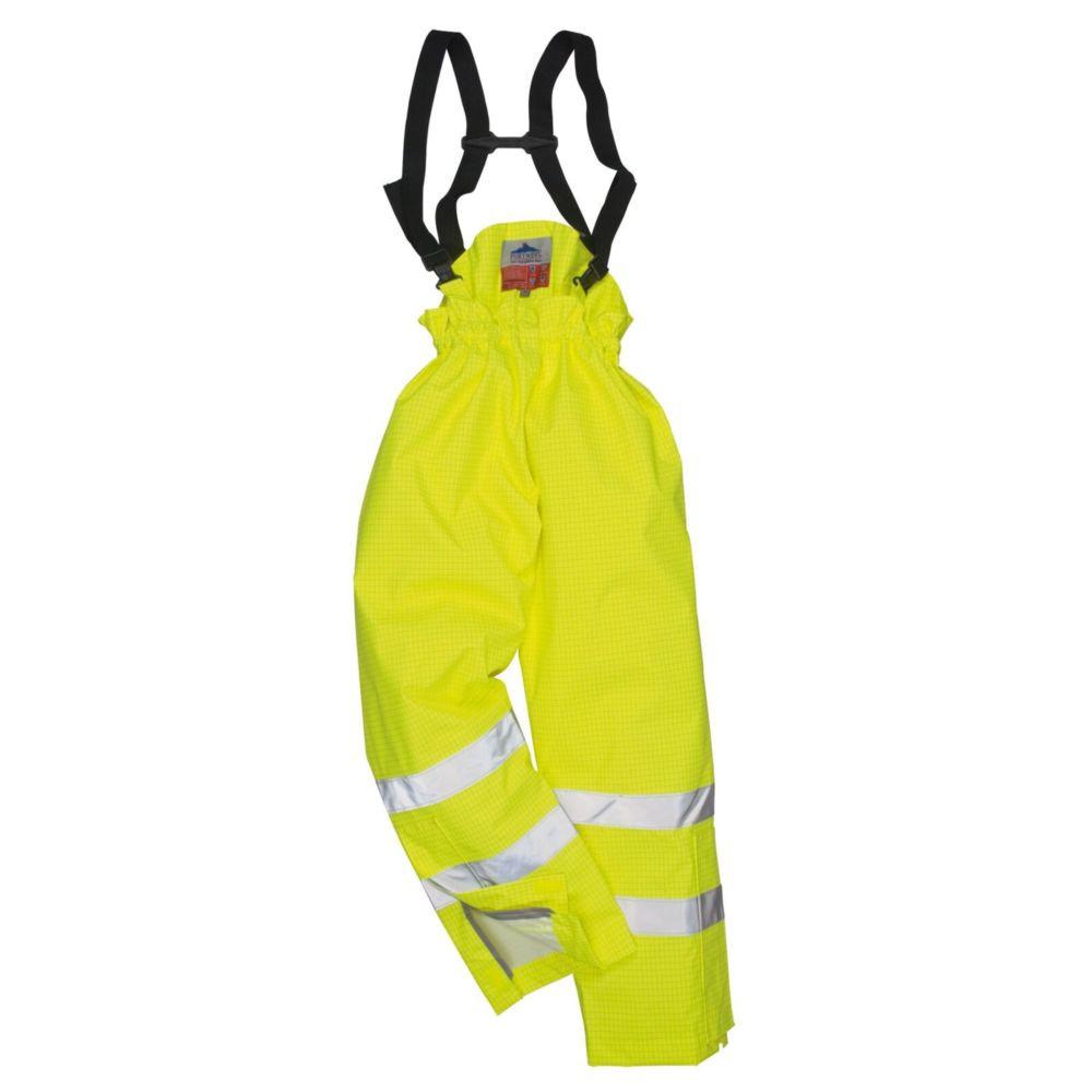 Pantalon ignifugé haute visibilité antistatique Portwest Bizflame Rain FR - Jaune