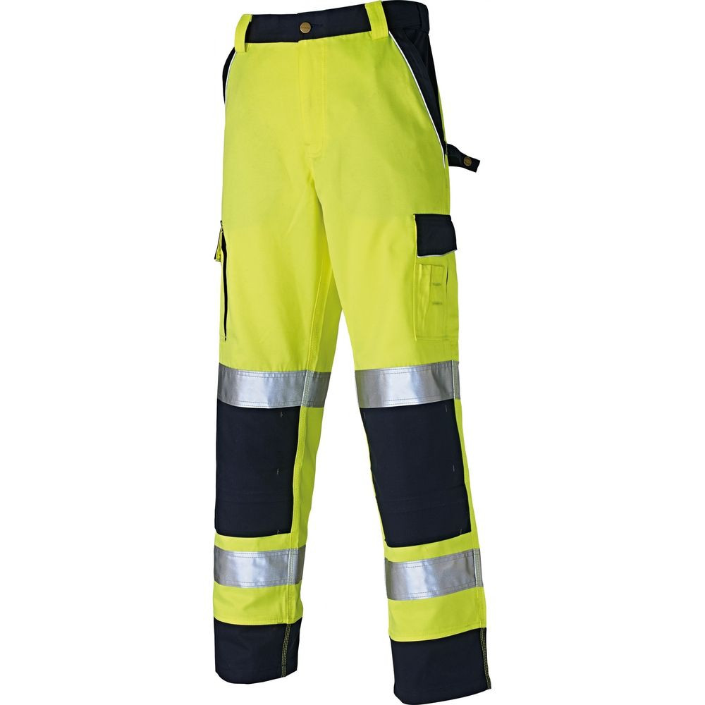 Pantalon haute visibilité Dickies multipoches bicolore - Jaune / Marine