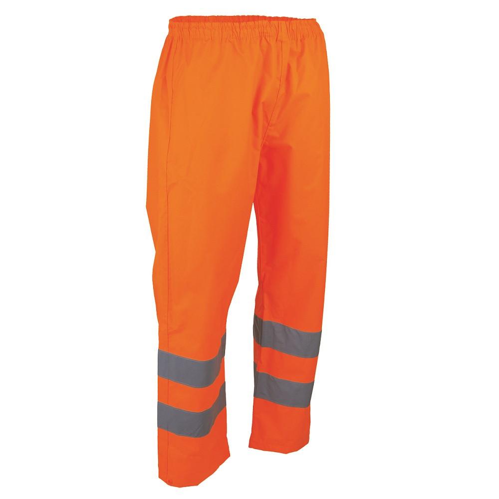 Pantalon haute visibilité imperméable LMA PRIORITE - Orange fluo