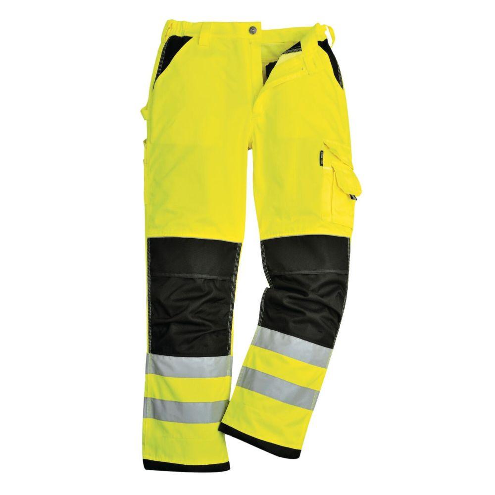 Pantalon haute visibilité à genouilères Portwest Xenon - Jaune