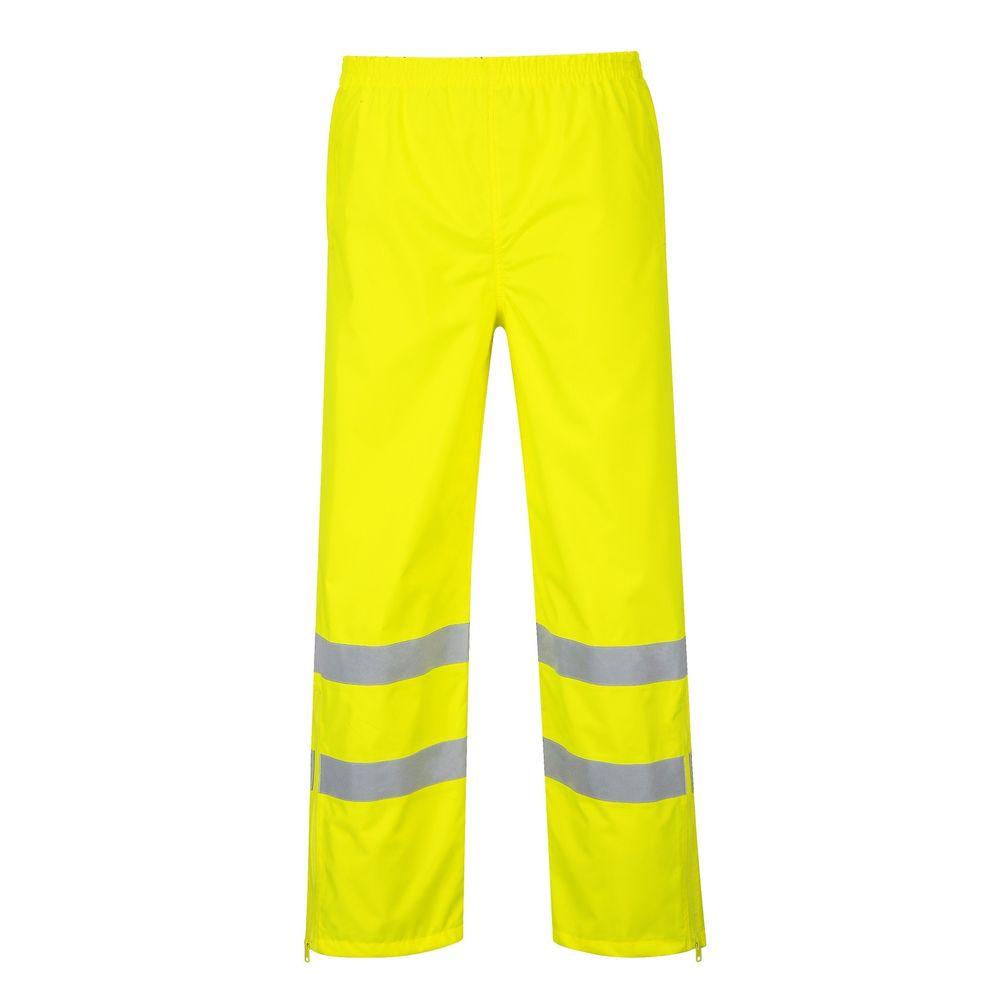 Pantalon Imperméable Haute Visibilité Portwest Respirant - Jaune Fluo