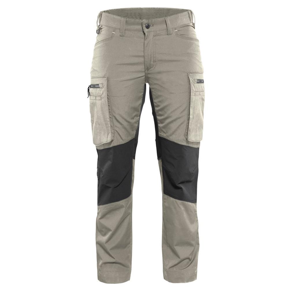 Pantalon de travail services stretch femme Blaklader polycoton - Beige / Noir