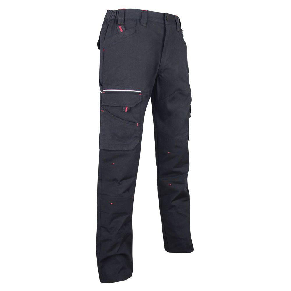Pantalon de travail Multipoches LMA extensible Basalte - Pantalon de travail en tissu canvas extensible LMA Basalte 2