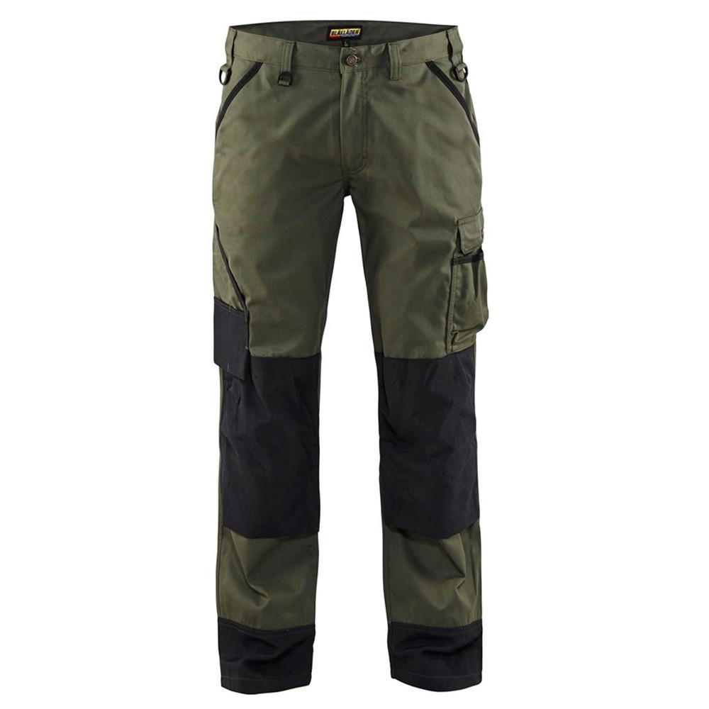 Pantalon de travail Paysagiste Blaklader polycoton - Vert Armée / Noir