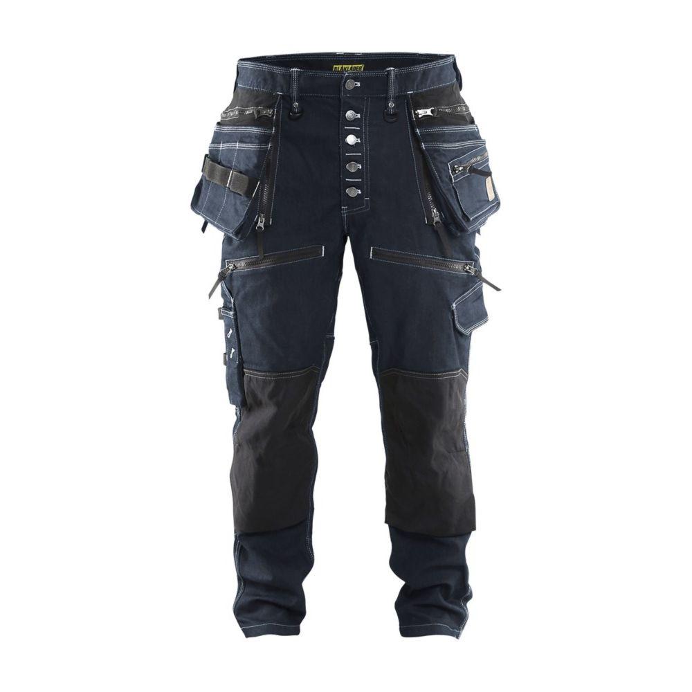 Pantalon de travail artisan Blaklader X1900 cordura denim stretch - Marine / Noir