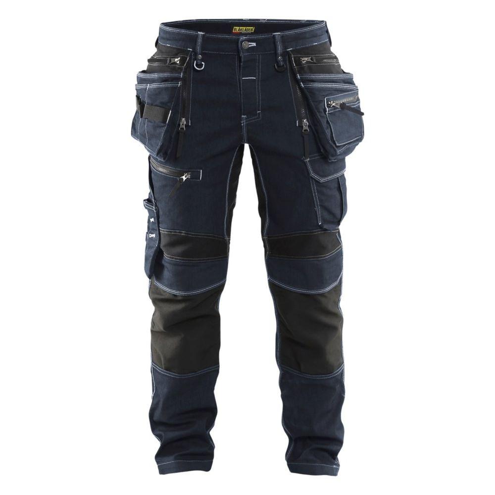 Pantalon de travail artisan Blaklader X1900 stretch - Marine / Noir