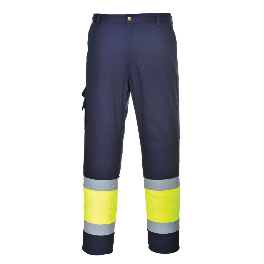 Pantalon haute visibilité Portwest Combat Bicolore - Jaune / Marine