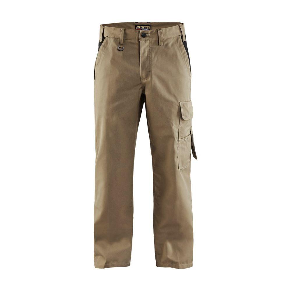 Pantalon de travail polycoton Blaklader Industrie bicolore - Beige / Poches Noires