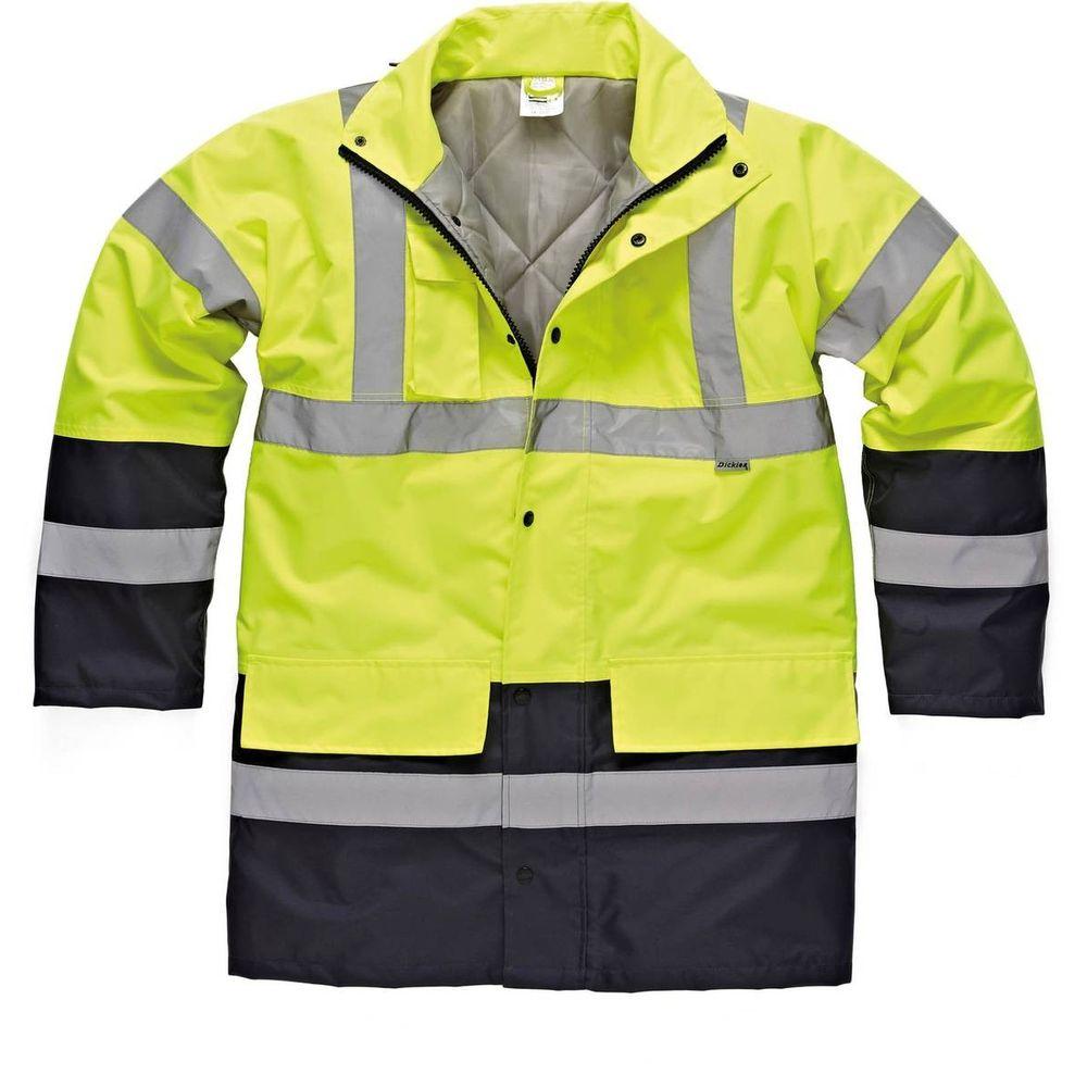 Parka de travail haute-visibilité bicolore Dickies - Jaune