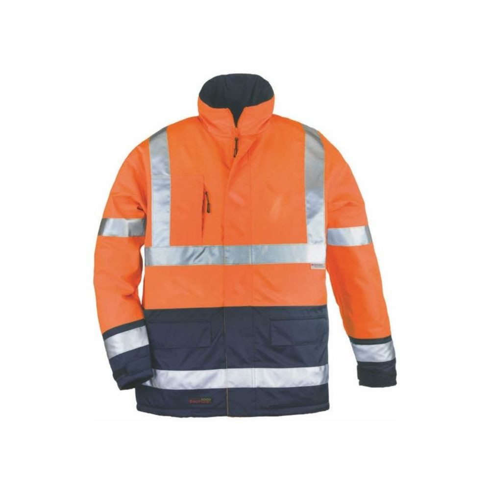 Parka haute visibilité imperméable Coverguard AIRPORT BREATHANE - Orange / Navy