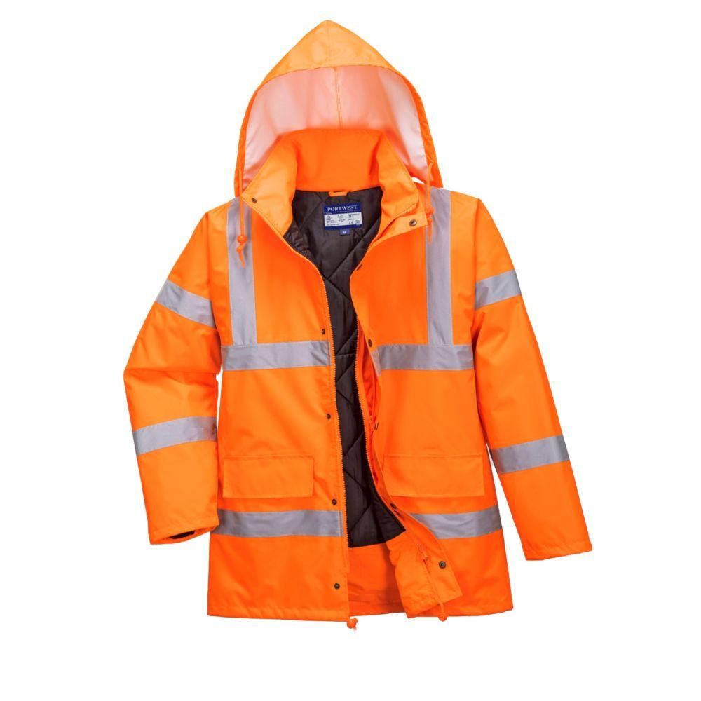 Parka imperméable haute visibilité respirante Portwest - Orange