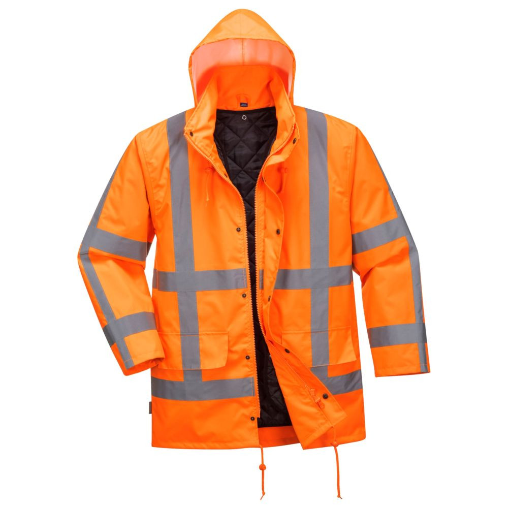Parka 2 en 1 TRAFFIC RWS Portwest doublure amovible - Orange