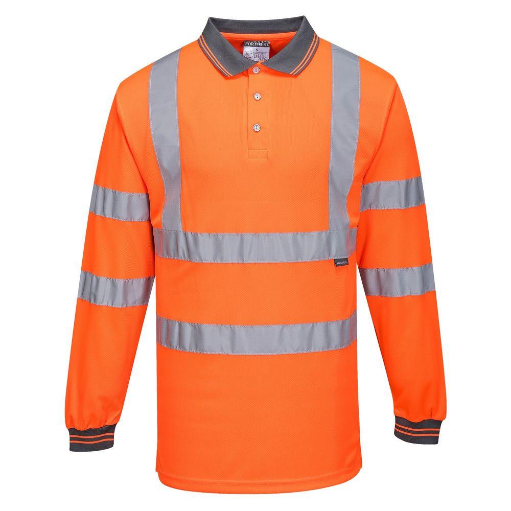 Polo haute visibilité Portwest manches longues - Orange