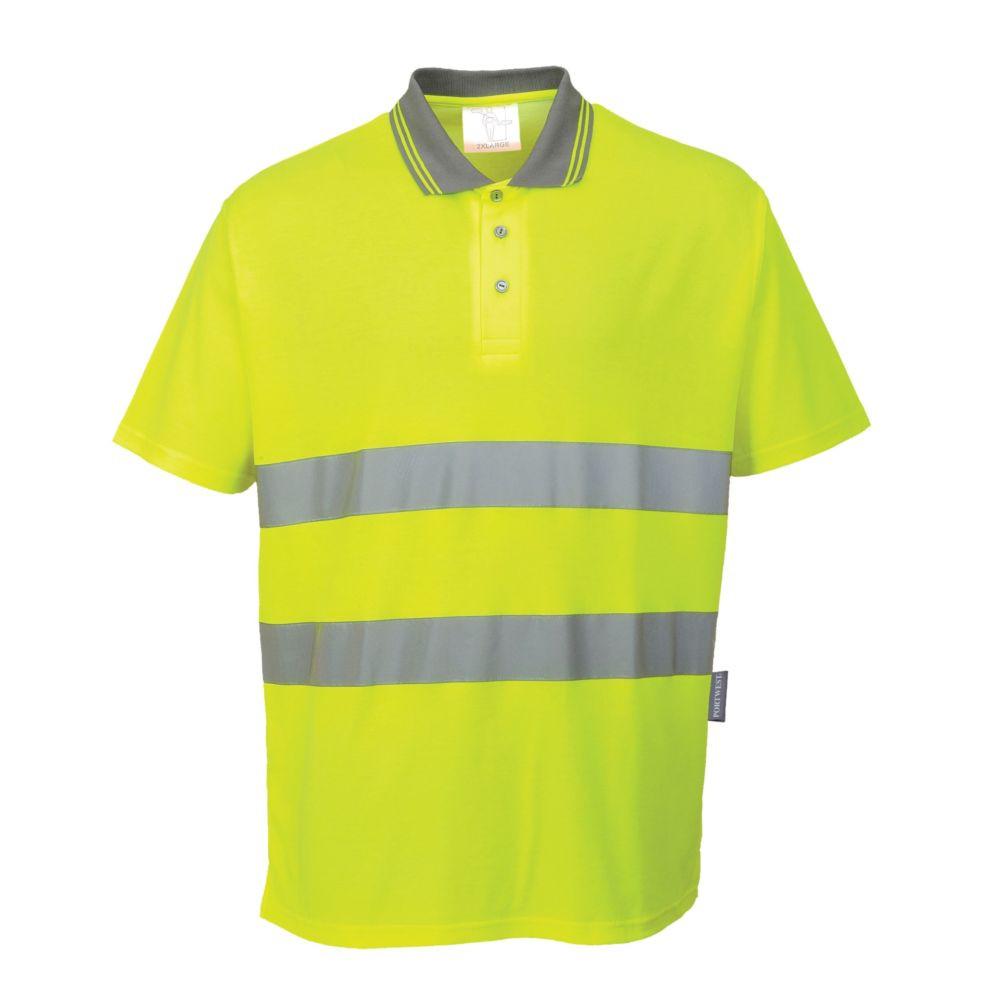 Polo haute visibilité Portwest Confort Coton - Jaune