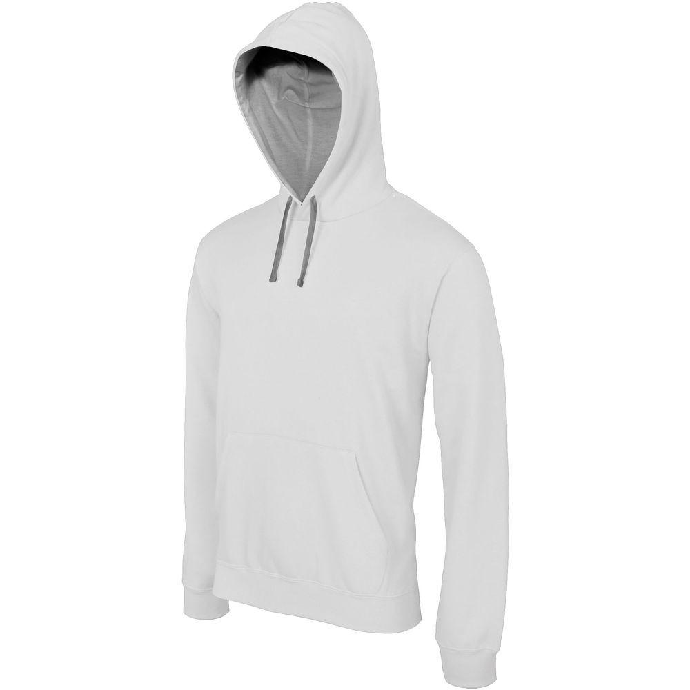 Sweat-shirt à capuche contrastée Kariban homme - Sweat-shirt à capuche contrastée homme Kariban Gris clair