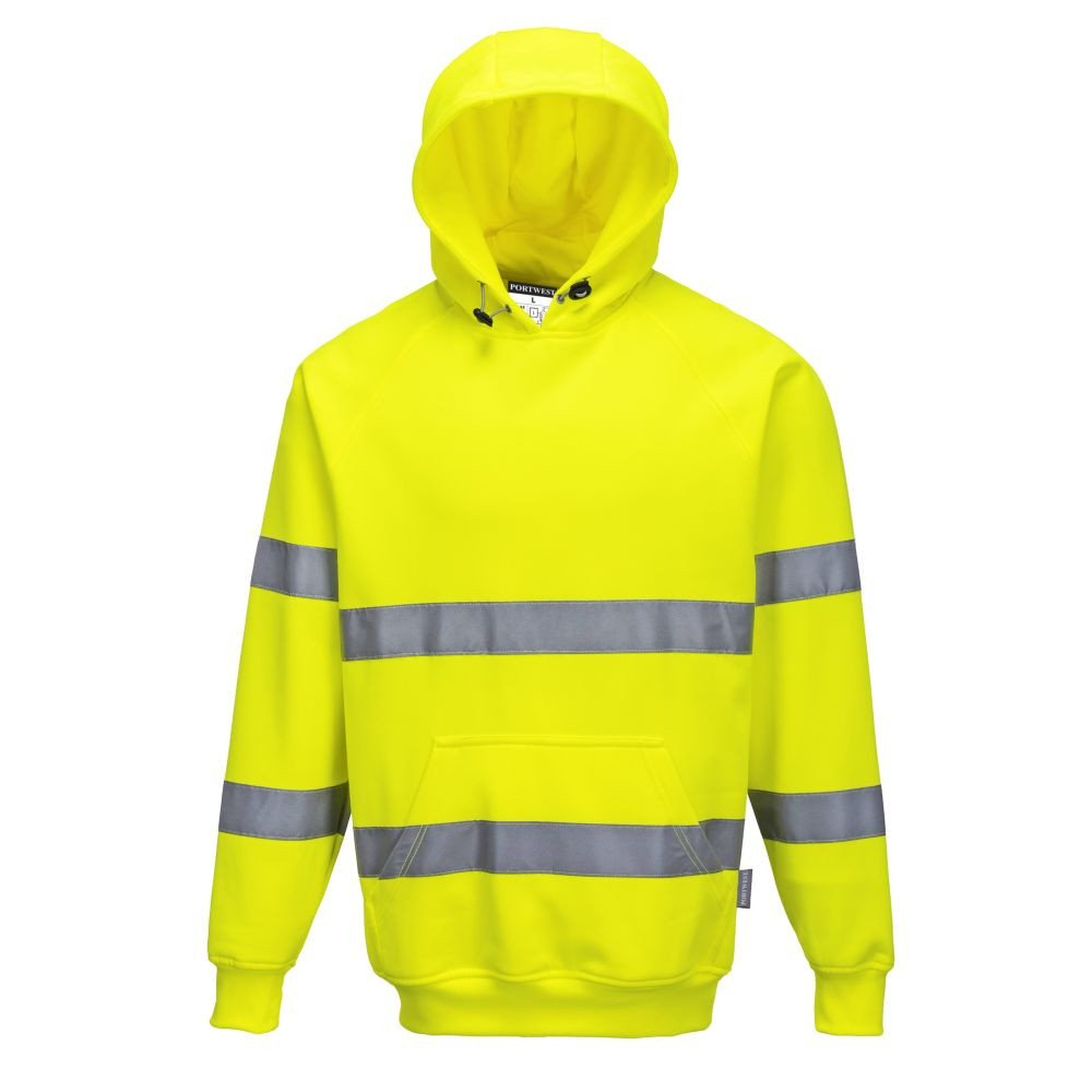 Sweat Shirt à capuche Haute Visibilité Portwest - Jaune fluo