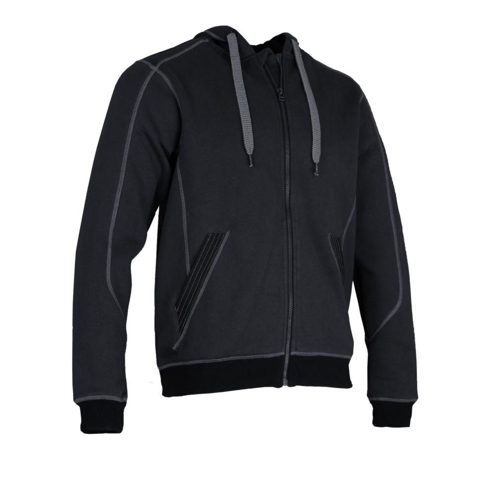 Sweat shirt à capuche LMA CHARPENTE - GRIS NOIR