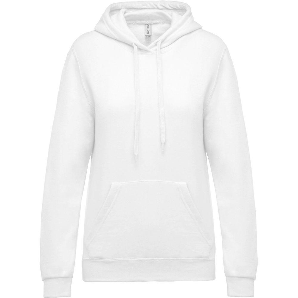Sweat-shirt capuche femme Kariban Blanc