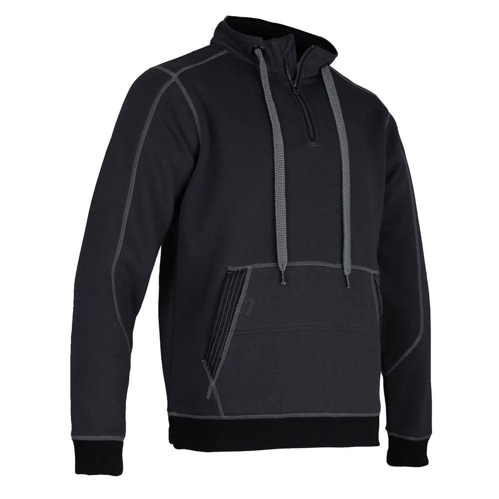 Sweat shirt col montant LMA COFFRE - Gris Noir