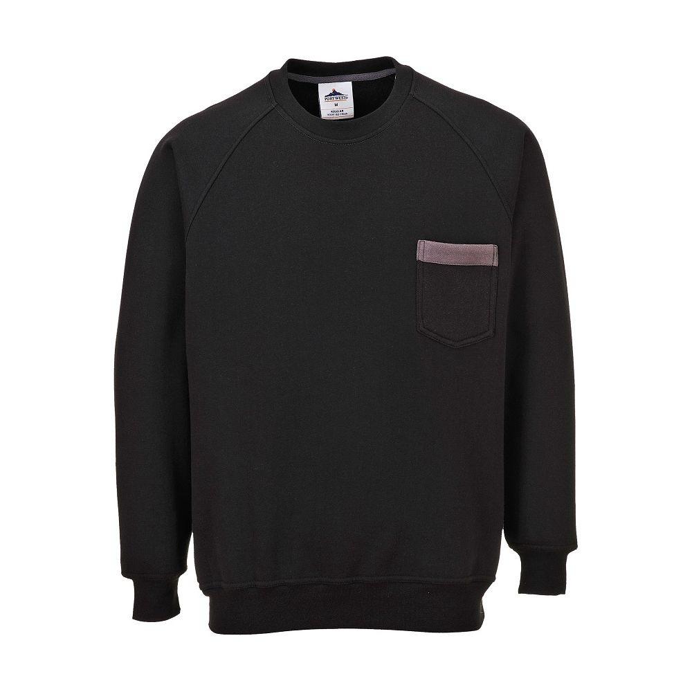 Sweat Shirt col rond Portwest Sweater Texo - Noir / Gris