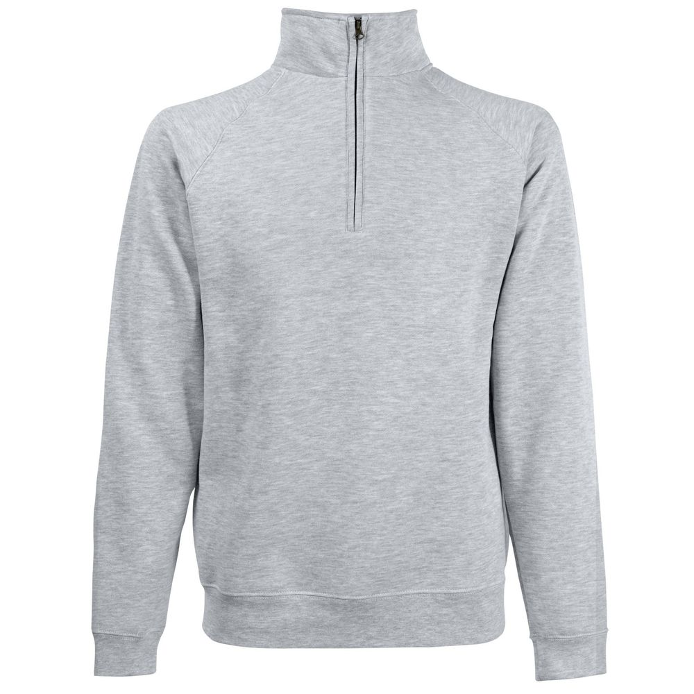 Sweat-shirt col zippé Fruit Of The Loom Classic gris