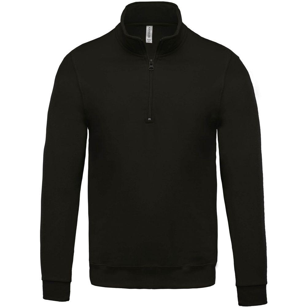 Sweat-shirt col zippé Kariban Noir