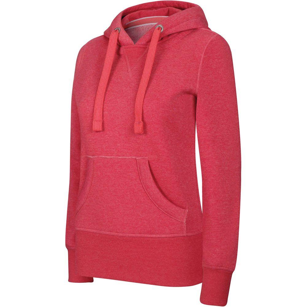 Sweat-shirt à capuche femme Kariban mélange Rouge 85fdb235178