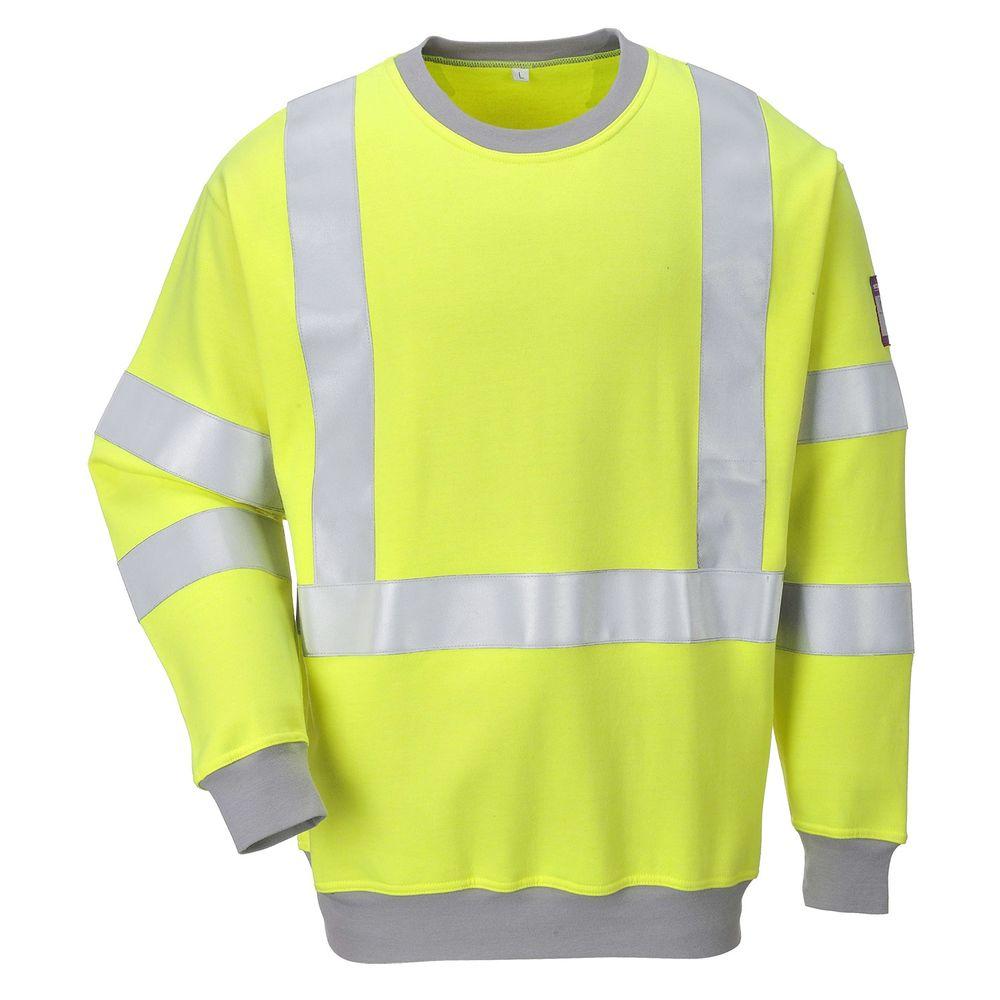 Sweat-shirt de travail Haute visibilité antistatique Portwest Modaflame - Jaune