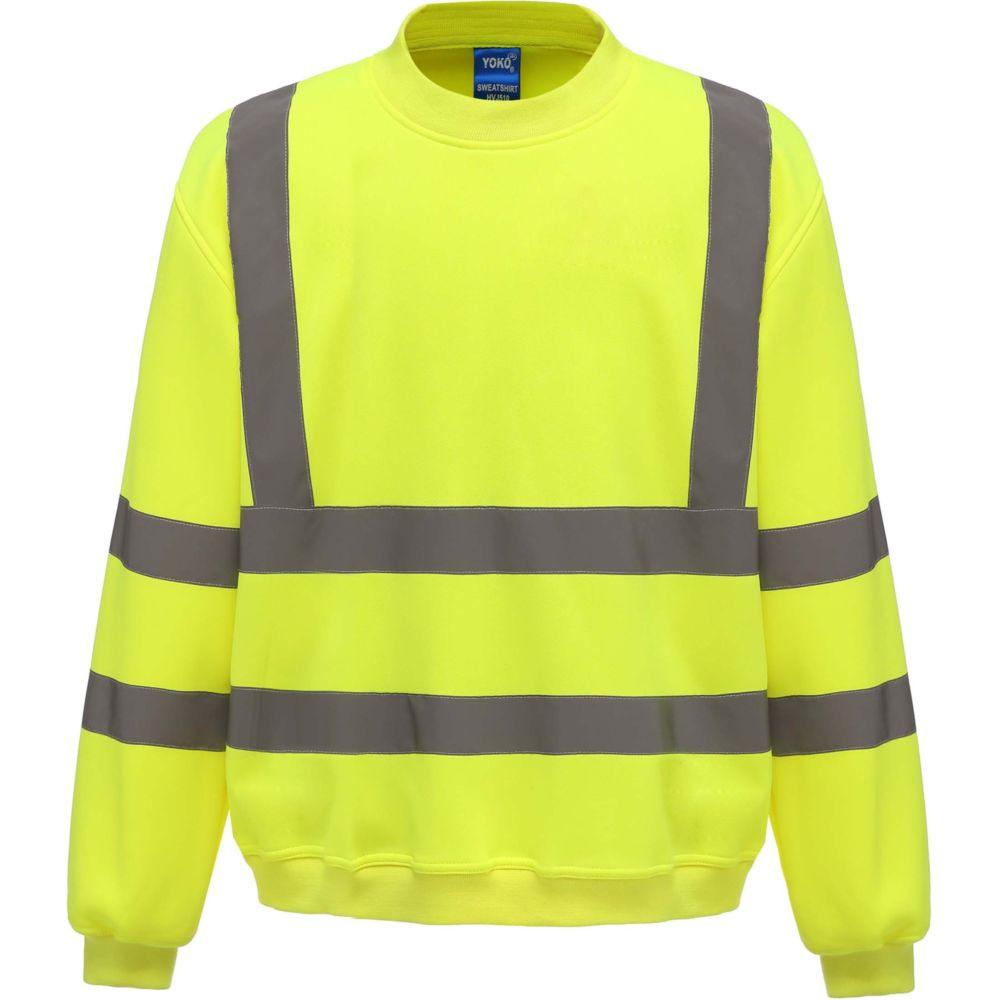 Sweat-shirt de travail haute visibilité Yoko - Jaune