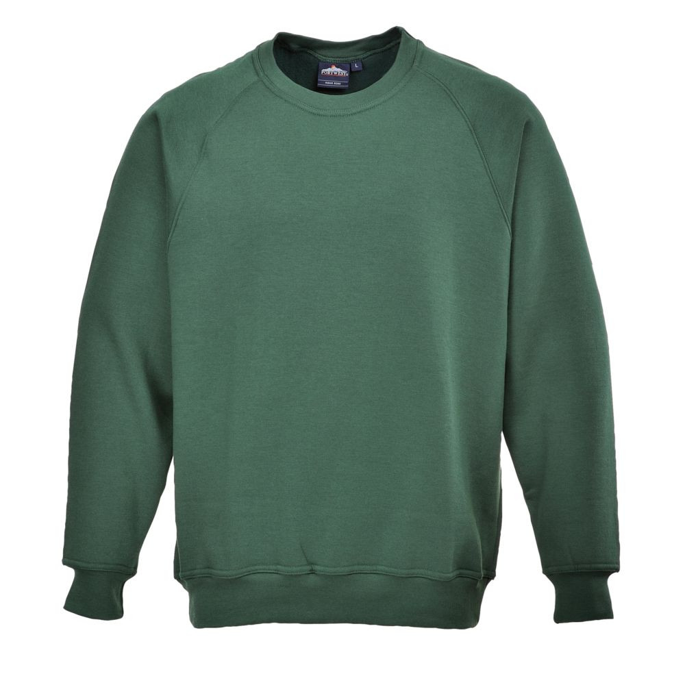 Sweat-shirt de travail Portwest Roma - Vert Bouteille