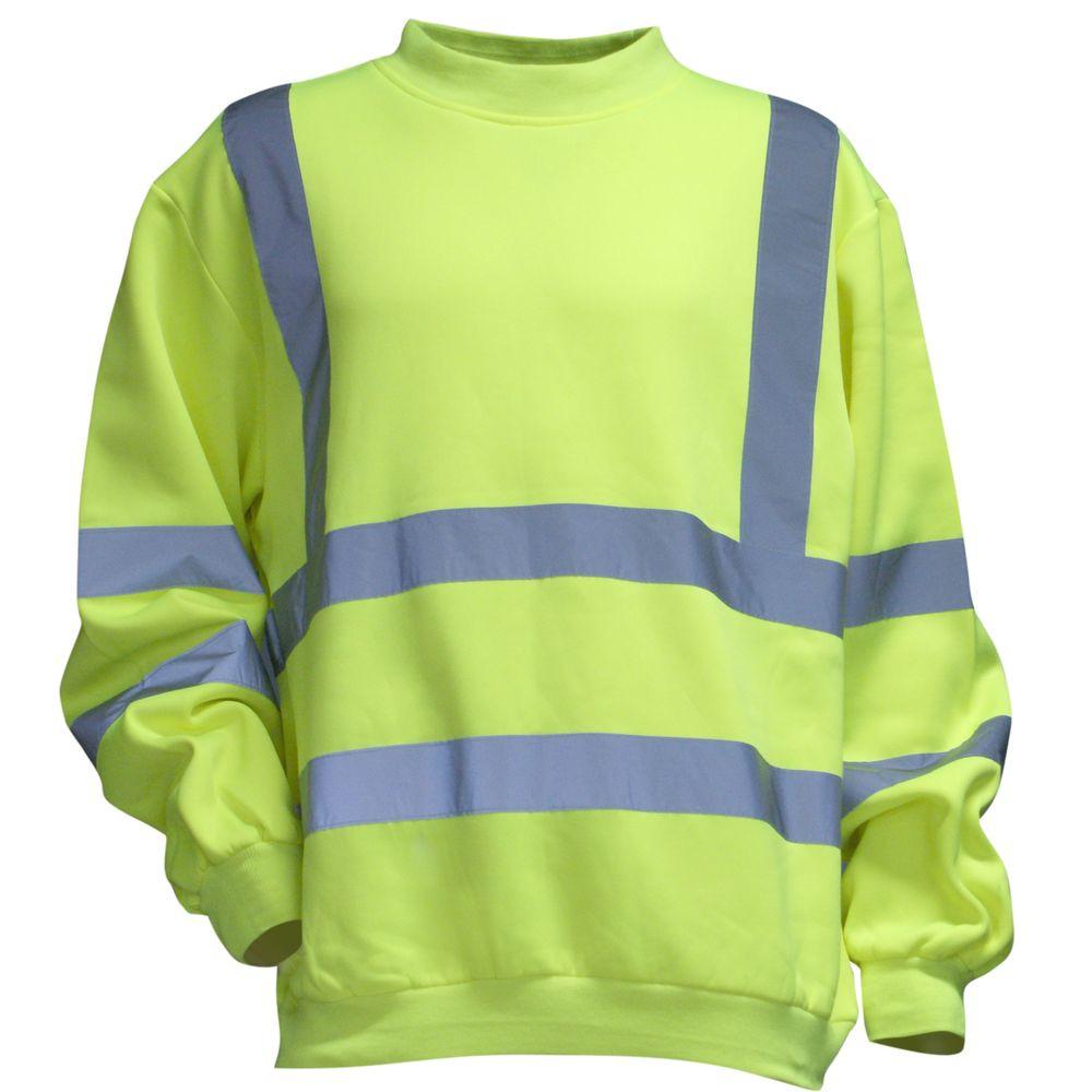 Sweat Shirt haute visibilité LMA Alarme - Jaune Fluo